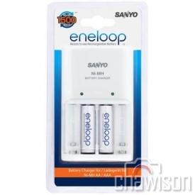 Ładowarka uniwer. Sanyo + 2 x R6 AA Eneloop 2000 mAh