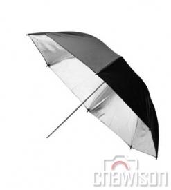 Parasolka refleksyjna czarno-srebrna 85cm